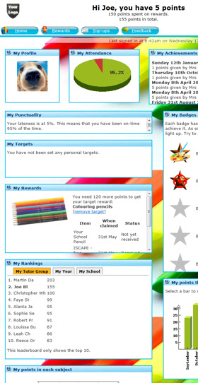 Rewards System Student Homepage